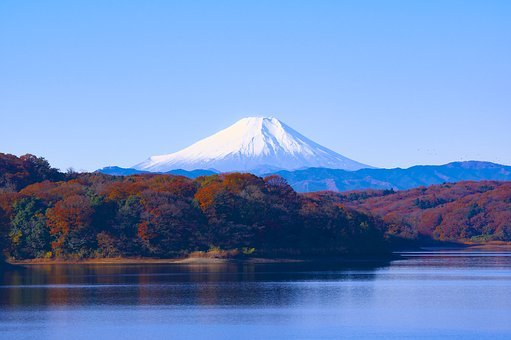 Japan, Mt Fuji, Sayama Lake, Reservoir, Landscape