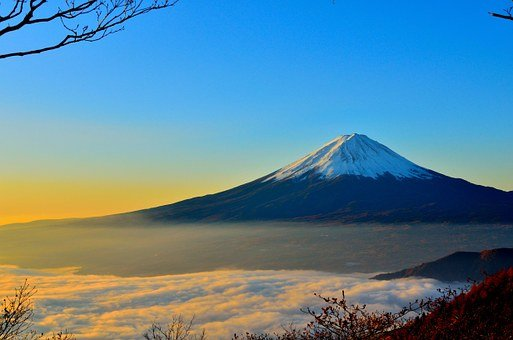 Mt Fuji, Sea Of Clouds, Sunrise