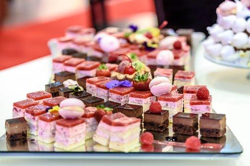 A Variety Of Cakes, Cherry, Dessert, Cake, Cream, Sweet