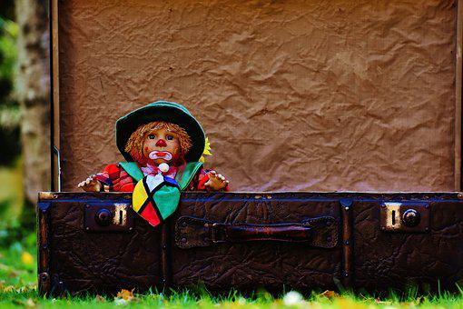 Doll, Clown, Farewell, Cute, Children, Funny, Sweet