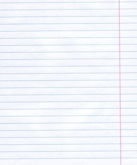 Notebook Paper, Paper, Texture, Lines, Page