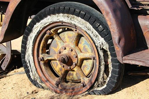 Tire, Wheel, Vintage, Antique, Old, Broken, Rusty