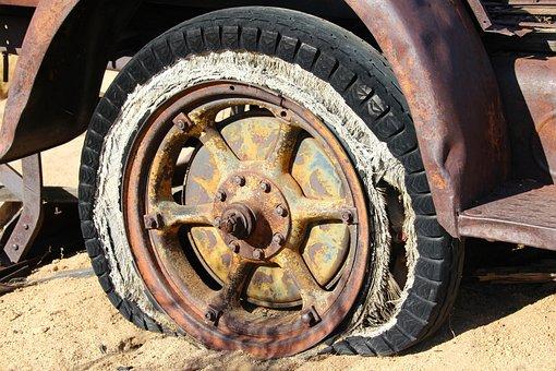 Tire, Wheel, Vintage, Antique, Old, Broken, Rusty