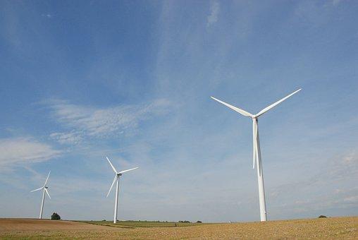 Wind Turbine, Energy, Propeller, Mill, Wind, Landscape