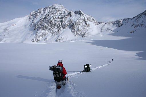 Winter Hike, Snowy Mountain, Alps, Hiking, Wildspitze
