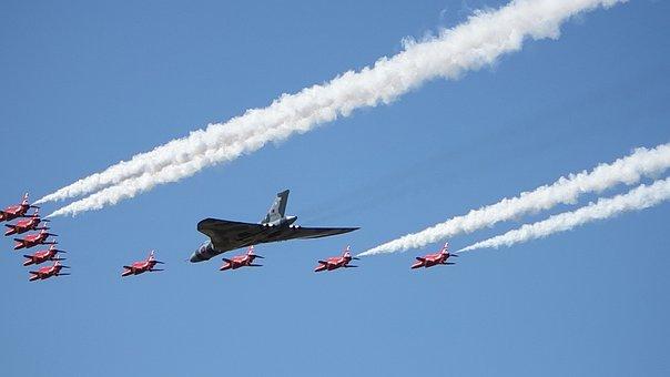 Red Arrows, Vulcan, Royal Air Force, Air Display