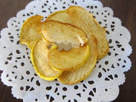 Apple Chips, Dehydrated Fruit, Raw Food, Fruit, Healthy