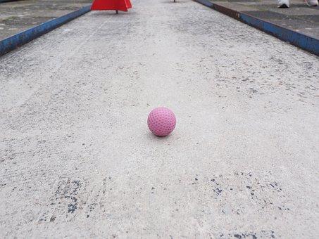 Ball, Mini Golf Ball, Ball Guide, Miniature Golf