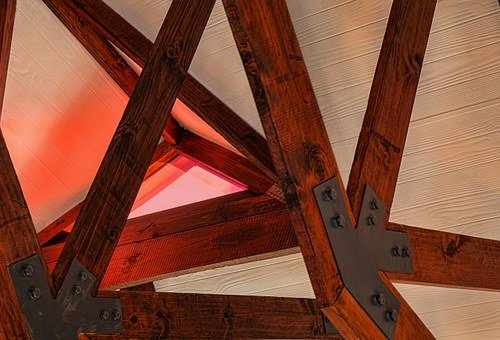 Beam, Skylight, Architecture, Roof, Ceiling, Wood