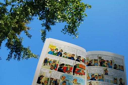 The Adventures Of Tintin, Cartoon, Blue Sky, Sunshine