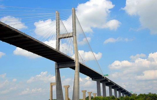 Bridge Span, Architecture, Bridge, City, Suspension