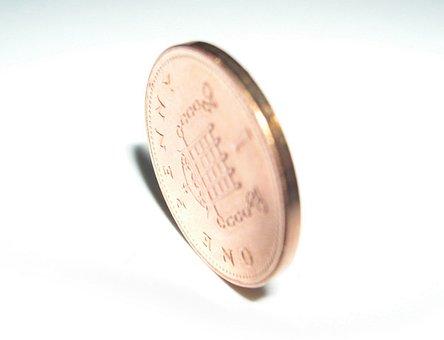 Penny, British Penny, Coin, Copper, Portcullis