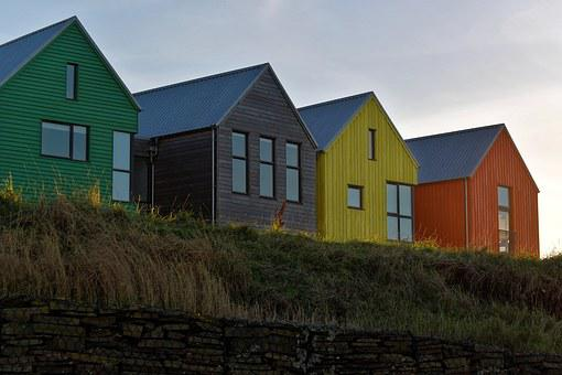 Buildings, Houses, Cliff Top, Home, Architecture