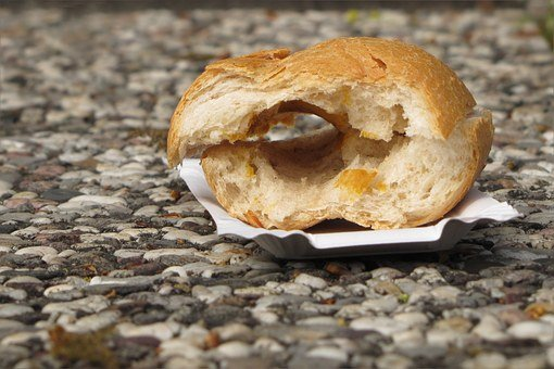 Roll, Hot Dog, By Looking, Thrown Away