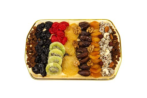 Dried Fruits, Mixed, Nutrition, Fruit, Candied Fruits