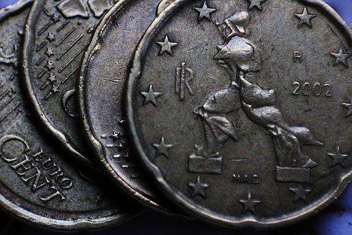 Euro, Cent, Cents, Twenty, Italy, Futurism, Marinetti