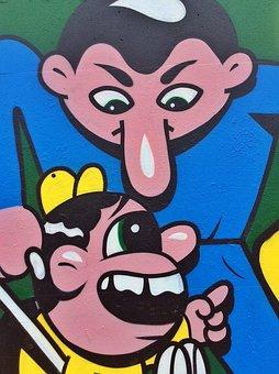 Graffiti, Cartoon, Characters, Funny, Cartoon Kids