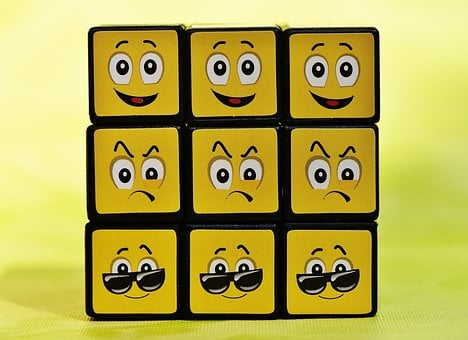Cube, Smilies, Various, Funny, Feelings, Emoticon, Mood