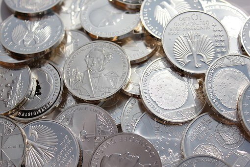 Silver, Coins, Coin, Finance, Metal, Money, Currency