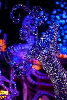 Bright, Celebration, Christmas, Dark, Decoration, Deer
