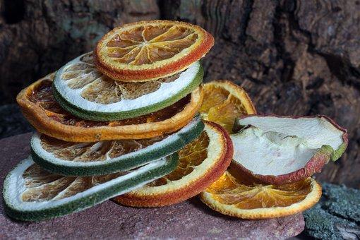 Citrus Fruits, Discs, Dried, Deco, Fruit, Dried Fruit