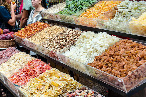 Dried Fruit, Candy, Madeira, Funchal, Portugal, Market