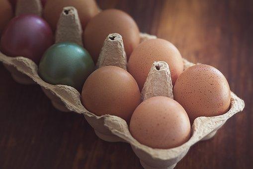 Egg, Chicken Eggs, Easter Eggs, Egg Box, 10er Pack