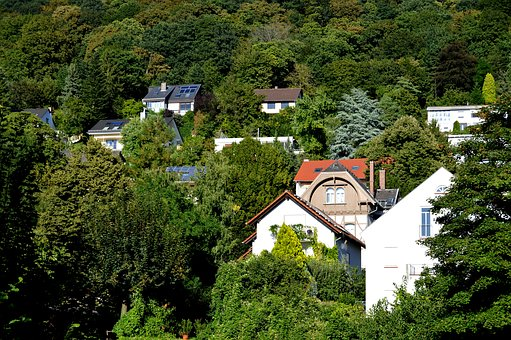 Heidelberg, Live, Houses, Forest, Architecture, Facades