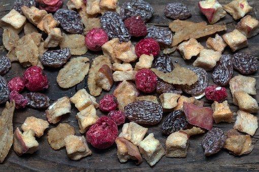 Fruits, Dry, Berries, Dried Fruits, Raisins, Food