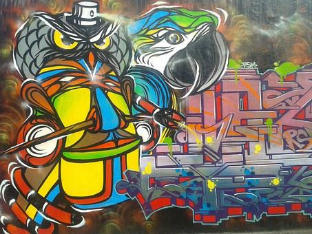 Graffiti, Art, Street Art, Cartoon Character