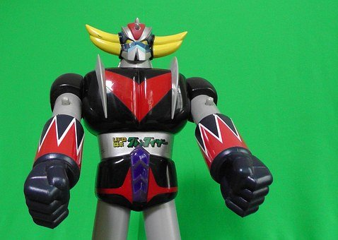 Robot, Toy, Plastic, Figurine, Green Background