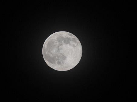 Moon, Light, Night, Travel, Planet, Landscape, Nature