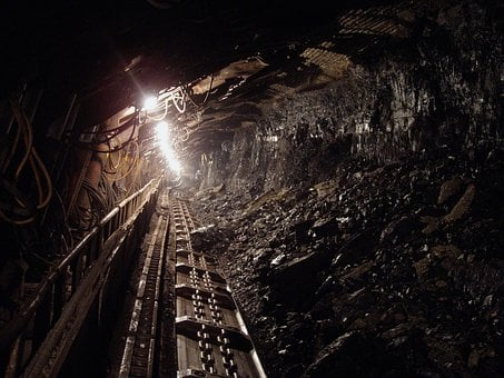 Coal, Black, Mineral, Underground, Mine, Miners