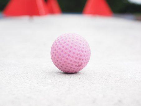 Ball, Mini Golf Ball, Miniature Golf, Minigolf Plant
