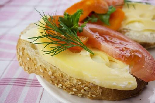 Food, Natural, Snack, Sandwich, Cheese, Vegetable