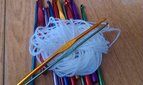 Crochet Hook, Needlework, Hand, Handicraft, Knitting