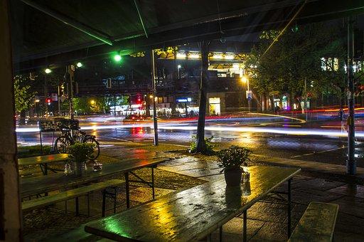 Long Exposure, Nighttime, Night, City, Germany