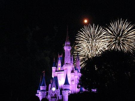 Disney World, Nighttime, Vacation, Fireworks