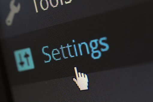 Settings, Options, Software, Website, Cms, Wordpress