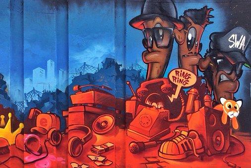 Graffiti, Painting, Art, Cartoon, Comic, Artistic