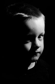 Face, Shadow, Light, Darkness, Dark, Portrait, Side