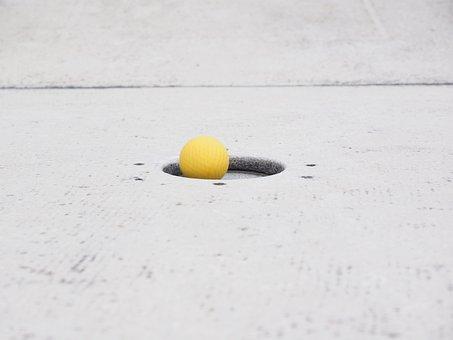 Putting, Ball, Mini Golf Ball, Hole, Target Circle