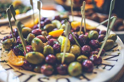 Green, Olives, Black, Salad, Healthy, Fit, Food, Diet