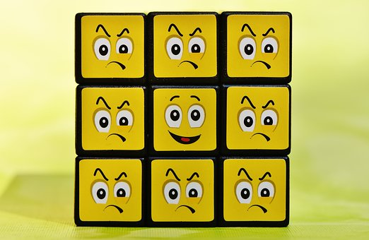 Cube, Smilies, One Against All, Funny, Feelings