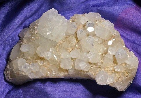Apophyllite With Stilbite, Apophyllite, Stilbite
