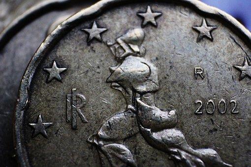 Euro, Cents, Twenty, Marinetti, Futurism, Coins, Money