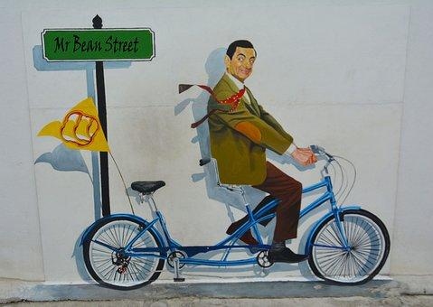 Street Art, Graffiti, Mr Bean, Wall, Street, Urban