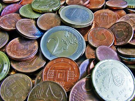 Currency, Coins, Euro, Cent, Money, Used Coins, Change