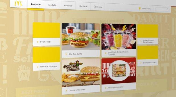 Mcdonalds, Website, Internet, Screenshot, Fast Food