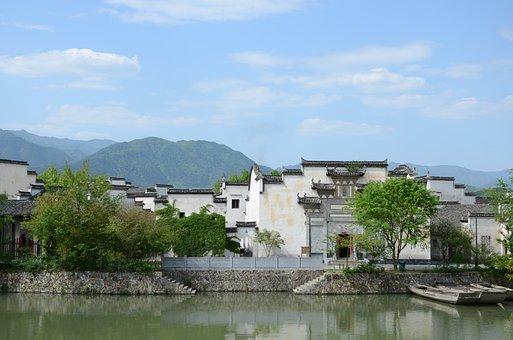 Huizhou, White Building, The Scenery, China, River
